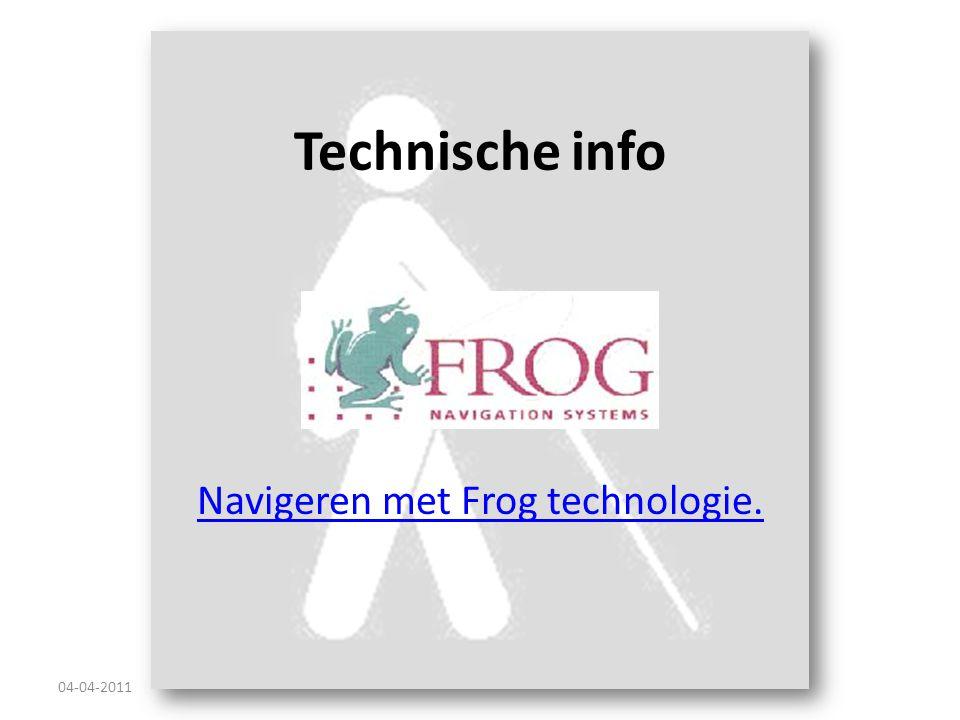 Navigeren met Frog technologie.