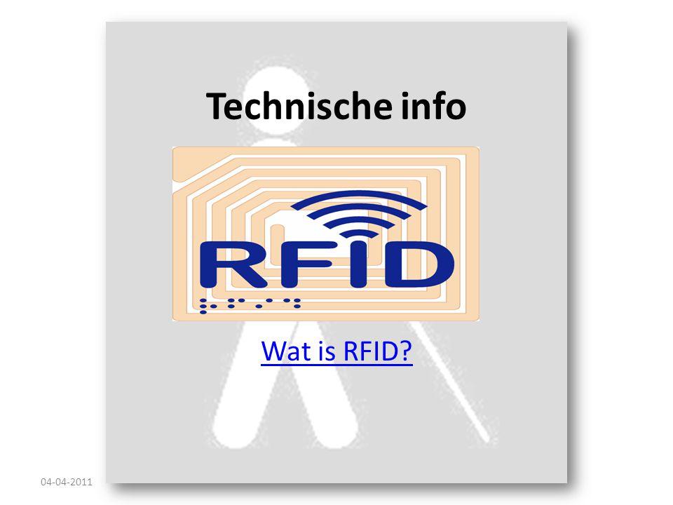 Technische info Wat is RFID 04-04-2011