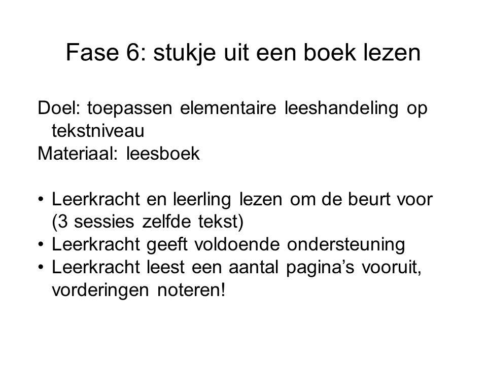 Fase 6: stukje uit een boek lezen