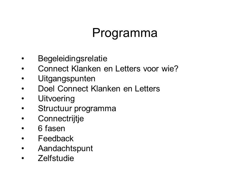 Programma Begeleidingsrelatie Connect Klanken en Letters voor wie