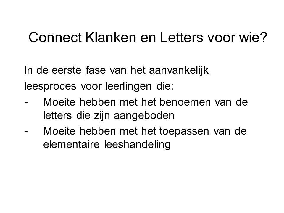 Connect Klanken en Letters voor wie
