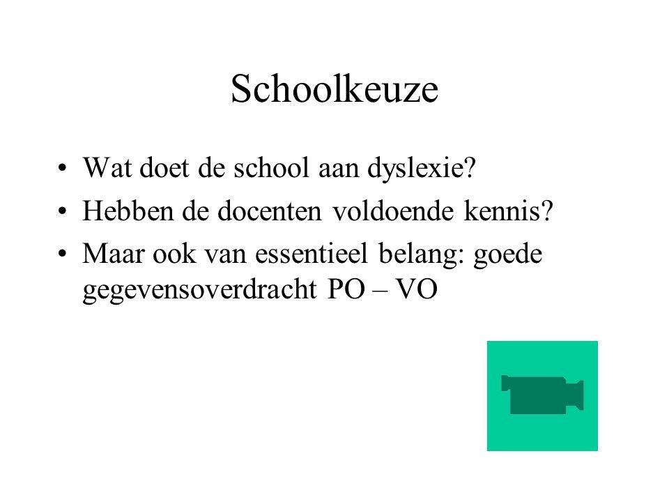 Schoolkeuze Wat doet de school aan dyslexie