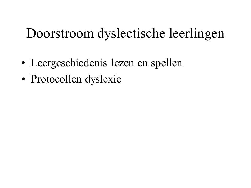 Doorstroom dyslectische leerlingen
