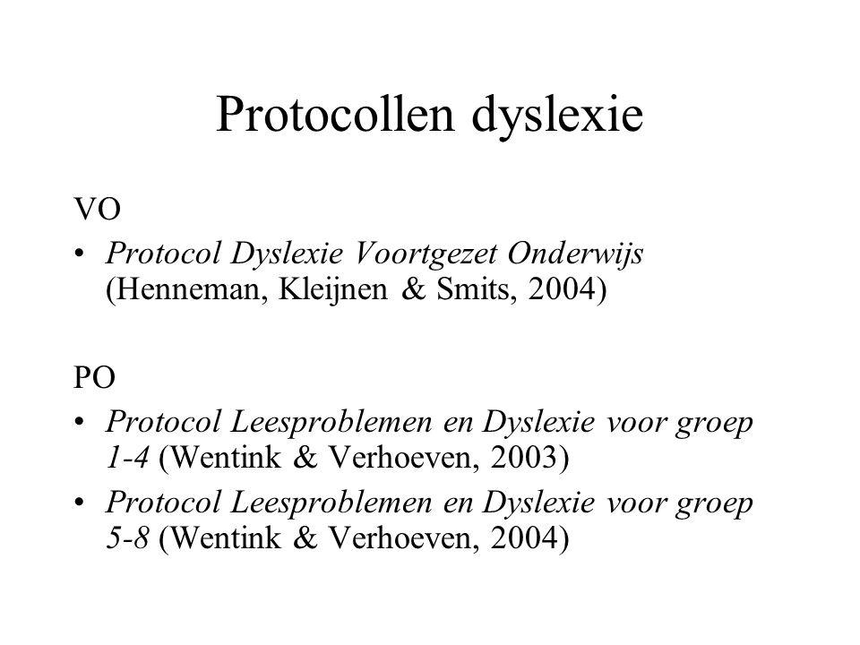 Protocollen dyslexie VO