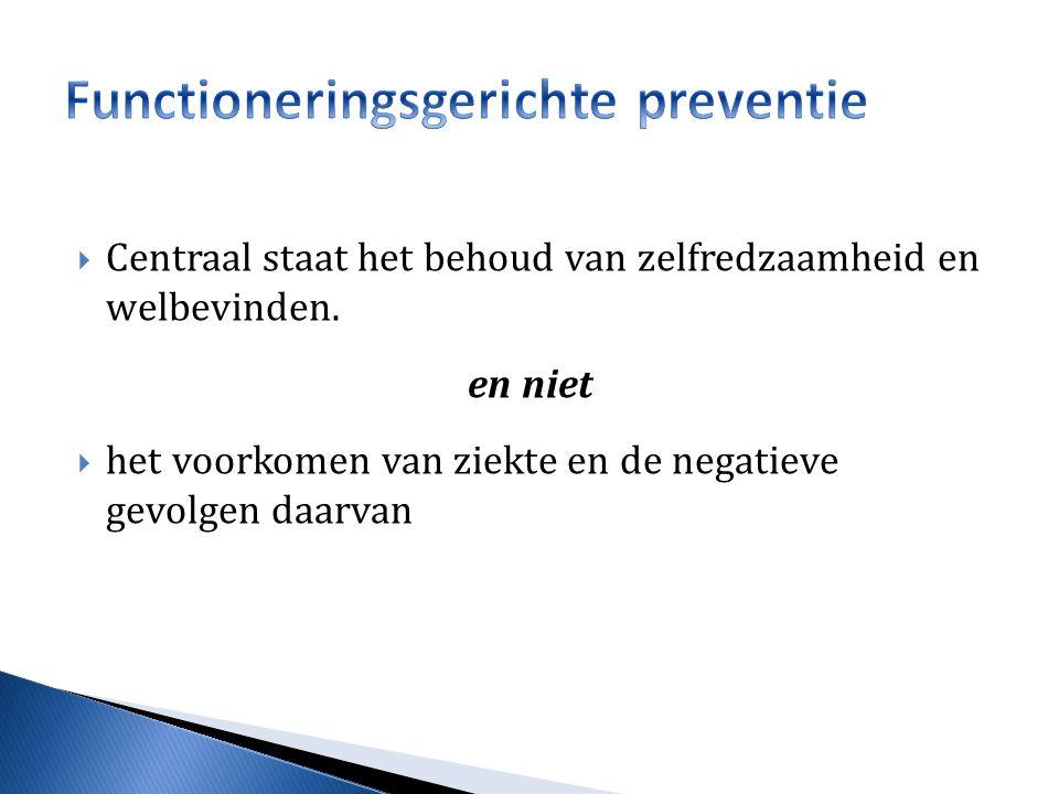 Functioneringsgerichte preventie