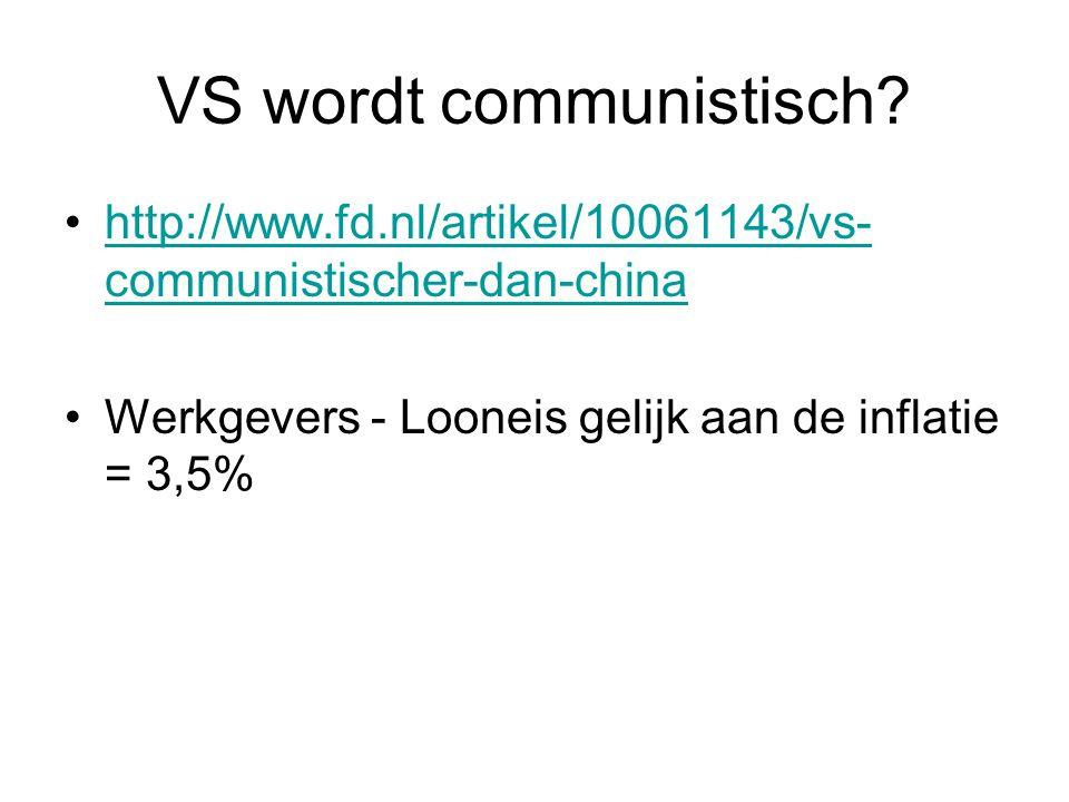 VS wordt communistisch