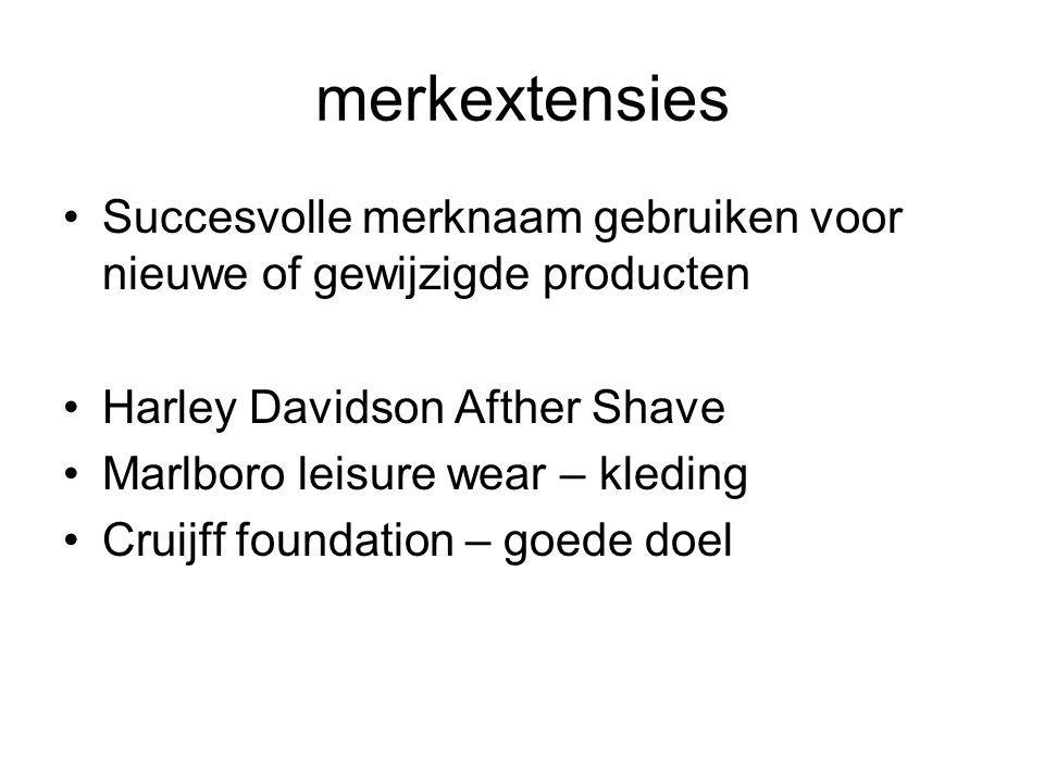 merkextensies Succesvolle merknaam gebruiken voor nieuwe of gewijzigde producten. Harley Davidson Afther Shave.