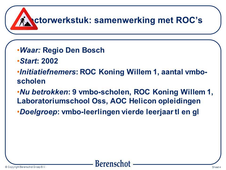 Sectorwerkstuk: samenwerking met ROC's