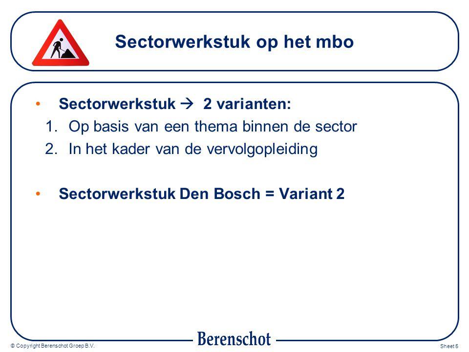 Sectorwerkstuk op het mbo