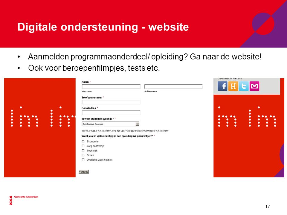 Digitale ondersteuning - website