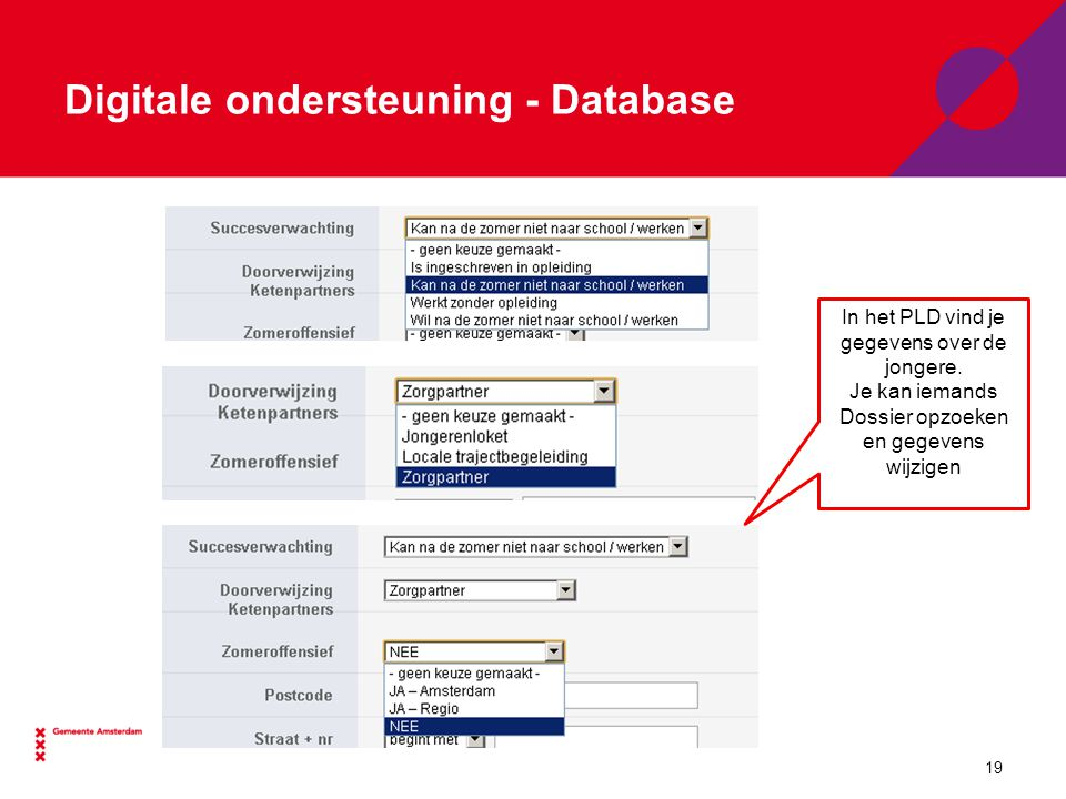 Digitale ondersteuning - Database