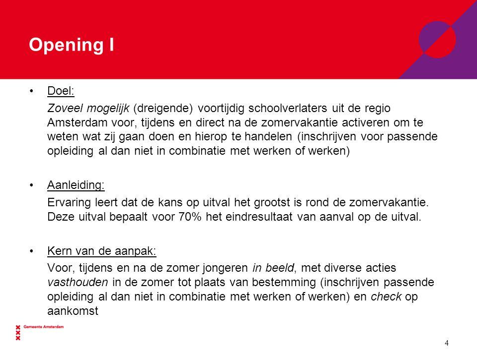 Opening I Doel:
