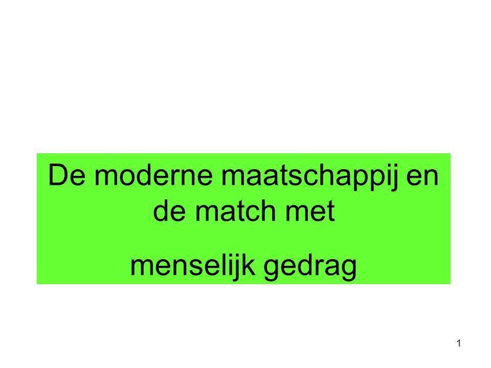De moderne maatschappij en de match met