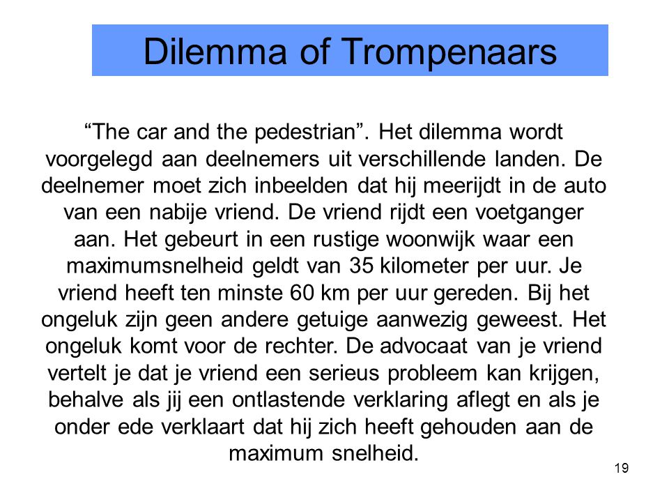 Dilemma of Trompenaars