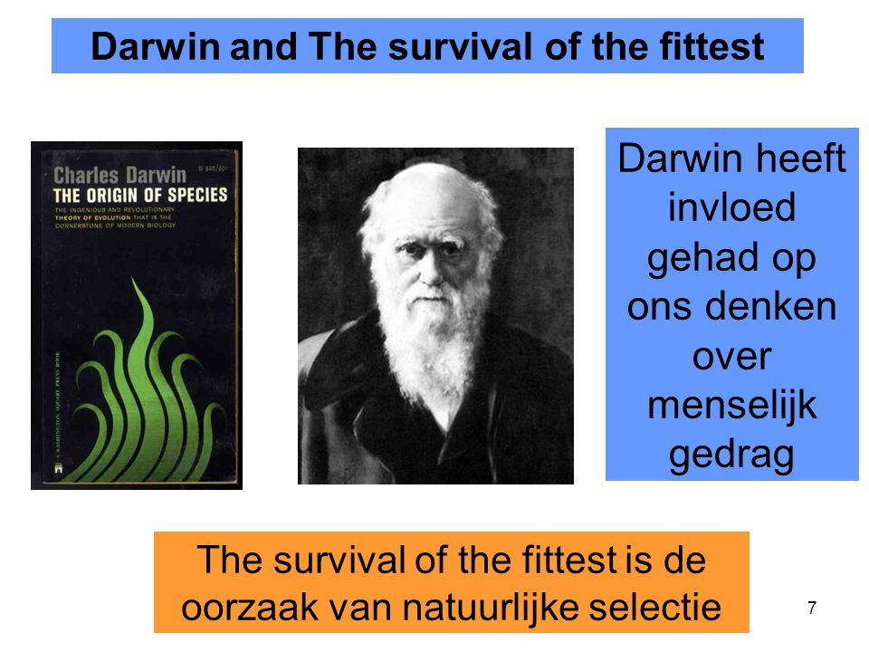 Darwin and The survival of the fittest