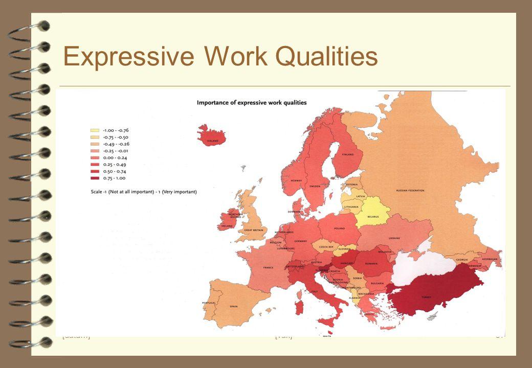 Expressive Work Qualities