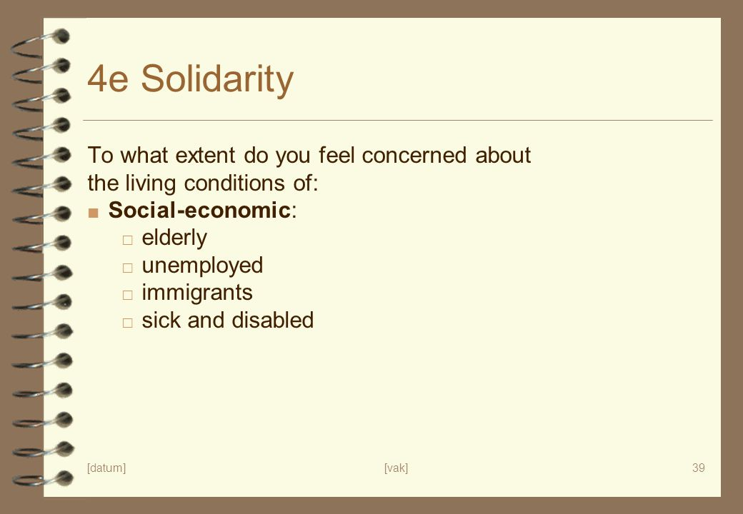 4e Solidarity To what extent do you feel concerned about