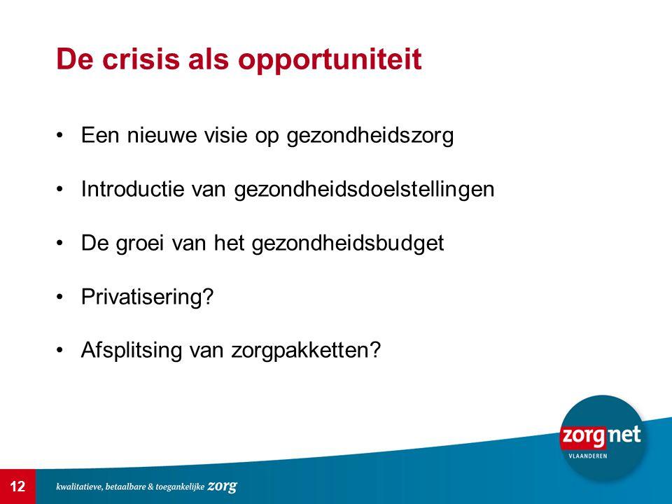 De crisis als opportuniteit