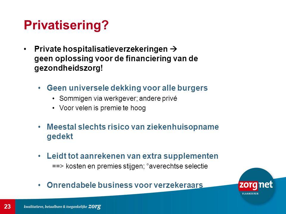 Privatisering Private hospitalisatieverzekeringen  geen oplossing voor de financiering van de gezondheidszorg!