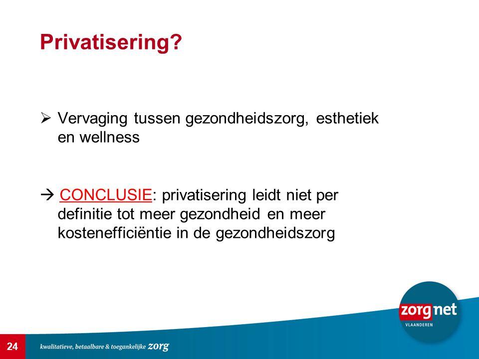 Privatisering Vervaging tussen gezondheidszorg, esthetiek en wellness