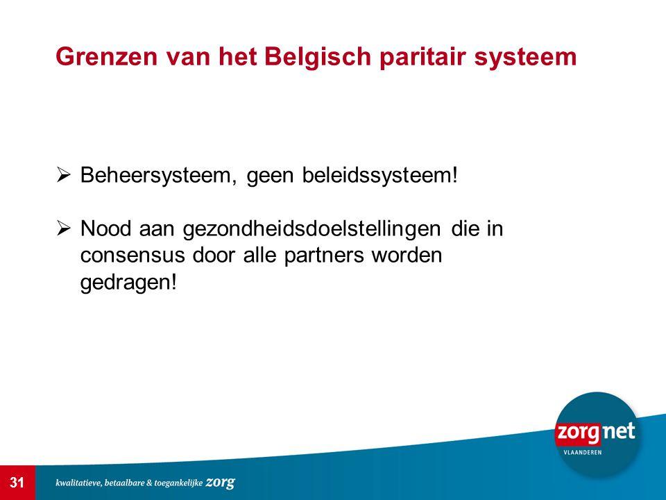 Grenzen van het Belgisch paritair systeem