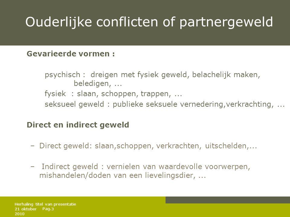 Ouderlijke conflicten of partnergeweld