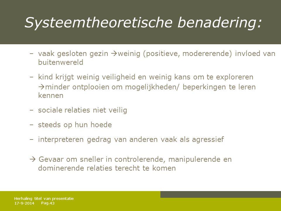 Systeemtheoretische benadering: