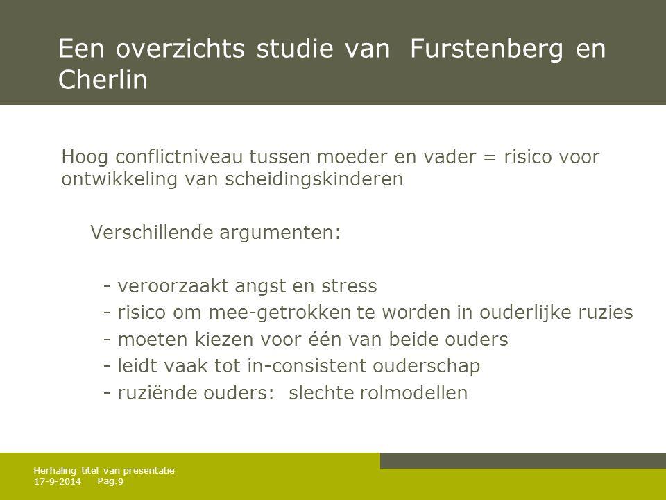 Een overzichts studie van Furstenberg en Cherlin