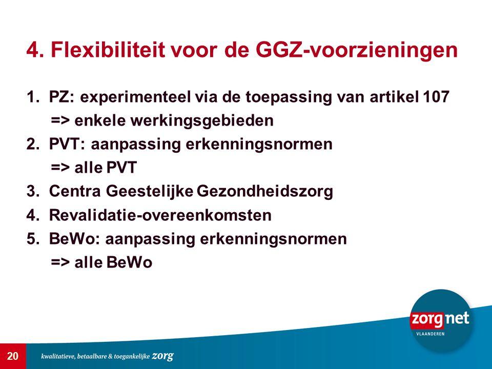 4. Flexibiliteit voor de GGZ-voorzieningen