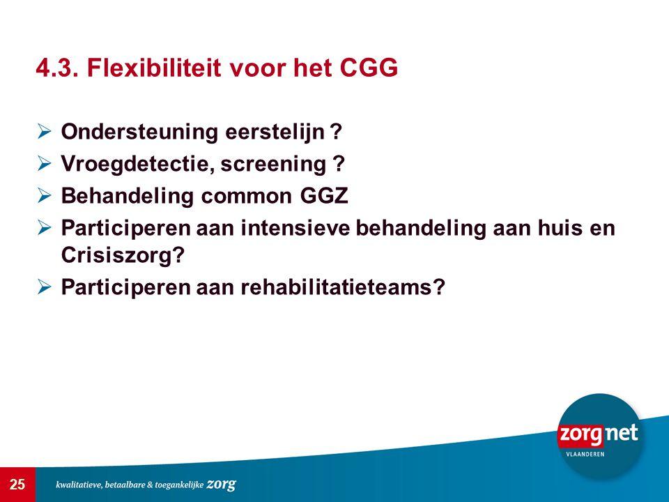 4.3. Flexibiliteit voor het CGG