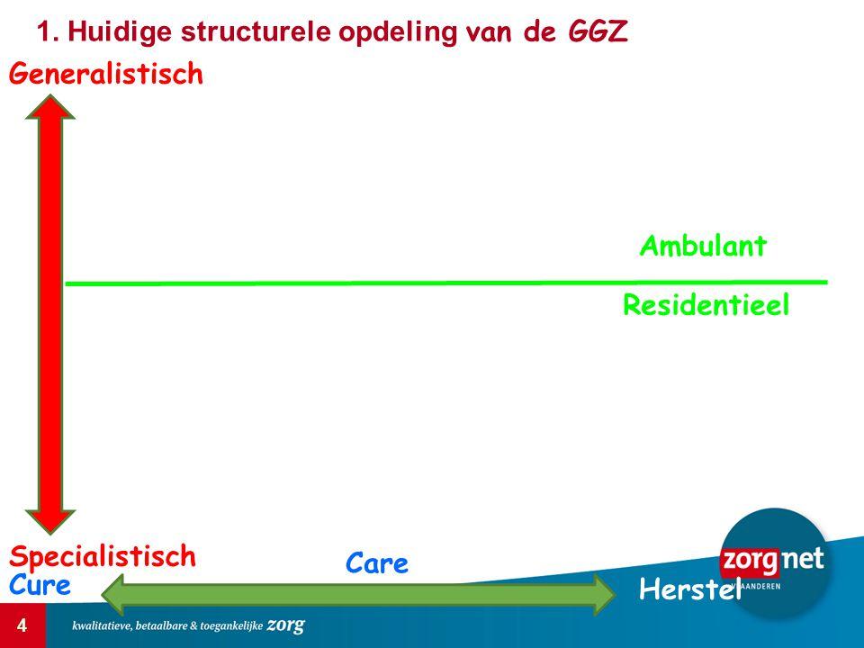 1. Huidige structurele opdeling van de GGZ