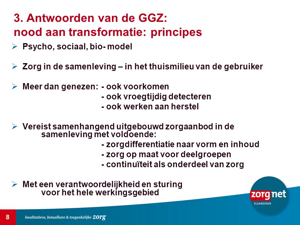 3. Antwoorden van de GGZ: nood aan transformatie: principes