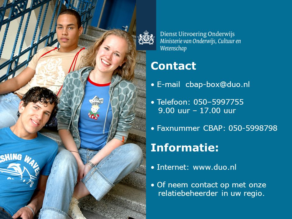Contact E-mail cbap-box@duo.nl