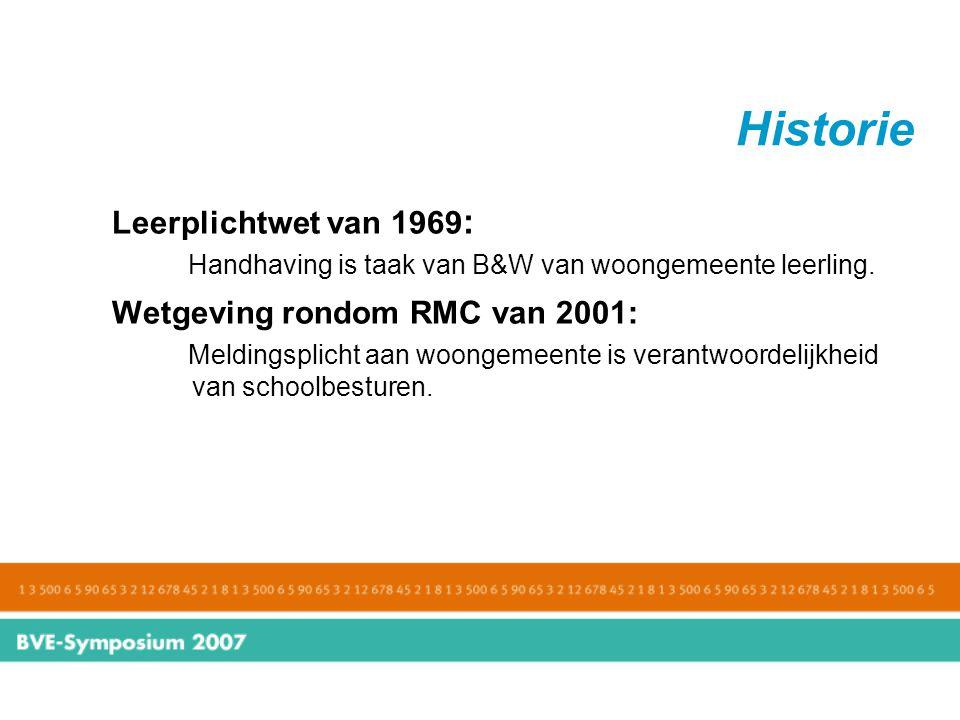 Historie Leerplichtwet van 1969: Wetgeving rondom RMC van 2001: