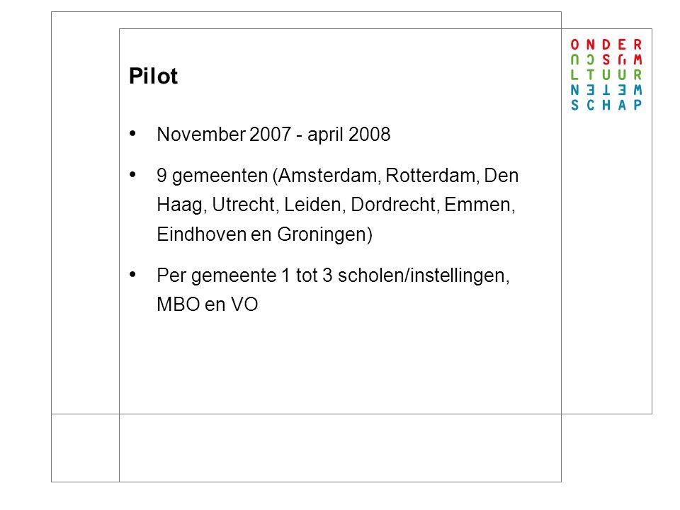 Pilot: evaluatie (1) Loket werkt goed Het is eenvoudig in het gebruik