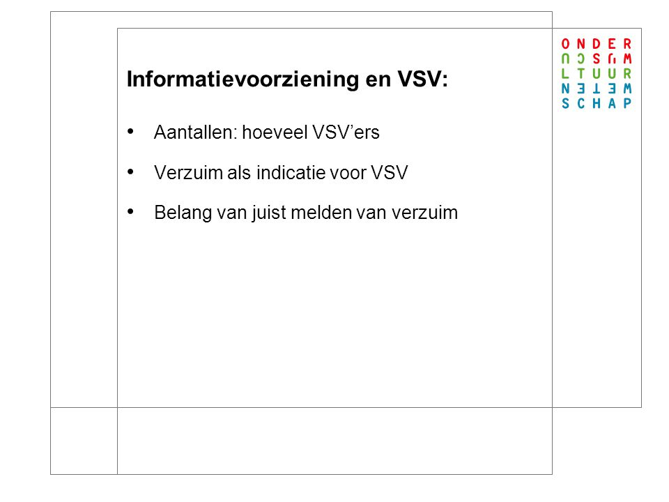 Knelpunten informatie over verzuim: