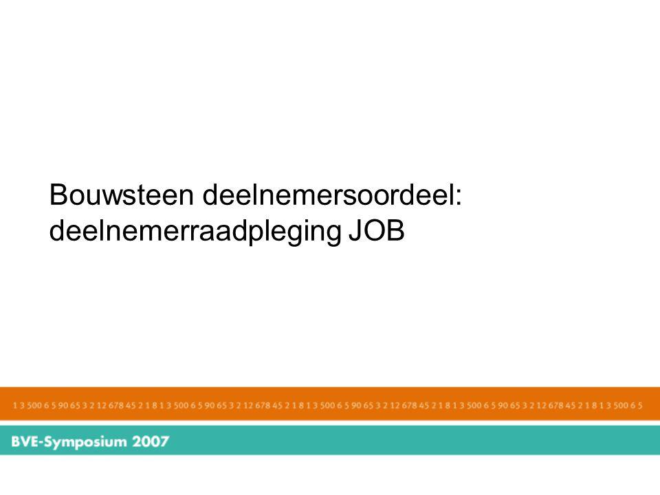 Bouwsteen deelnemersoordeel: deelnemerraadpleging JOB