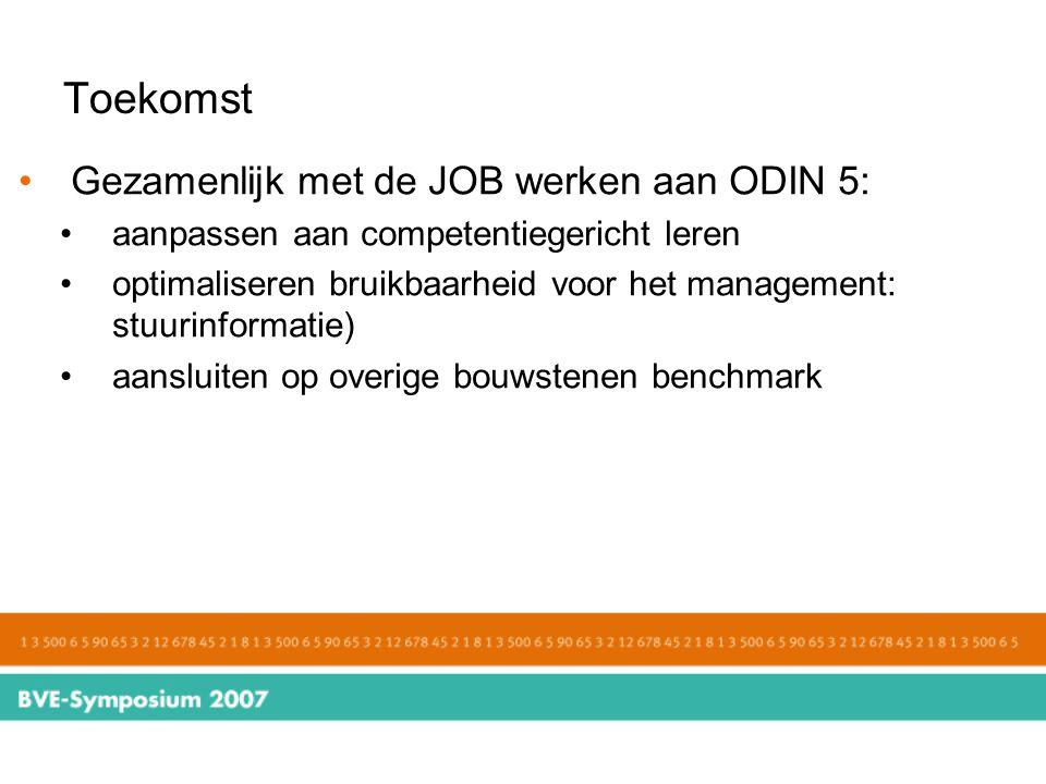 Toekomst Gezamenlijk met de JOB werken aan ODIN 5: