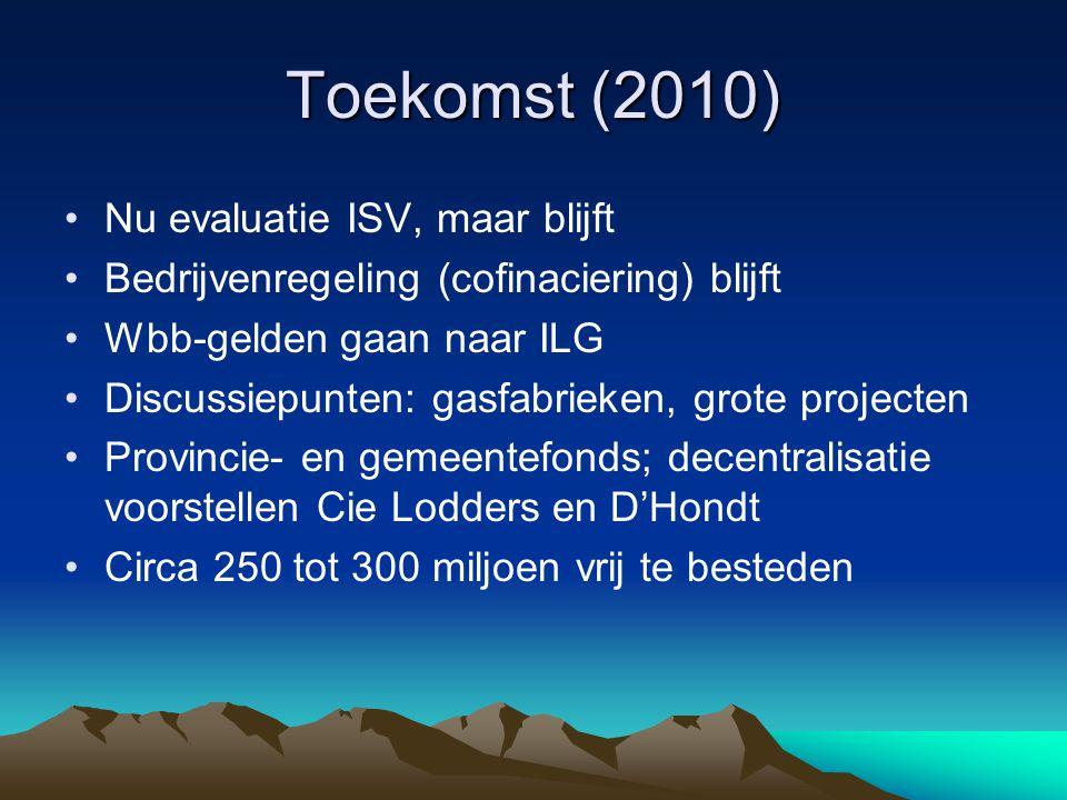 Toekomst (2010) Nu evaluatie ISV, maar blijft