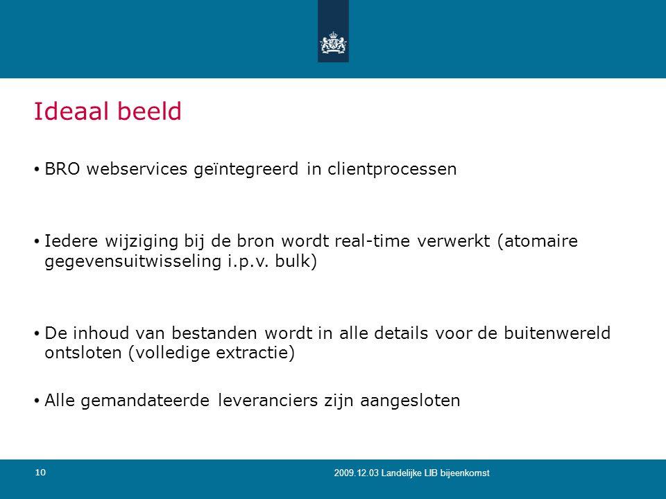 Ideaal beeld BRO webservices geïntegreerd in clientprocessen
