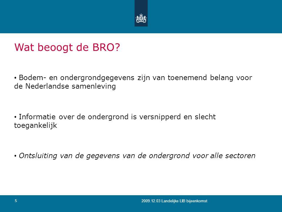 Wat beoogt de BRO Bodem- en ondergrondgegevens zijn van toenemend belang voor de Nederlandse samenleving.