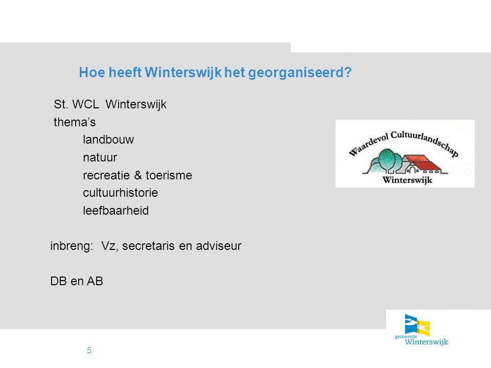 Hoe heeft Winterswijk het georganiseerd