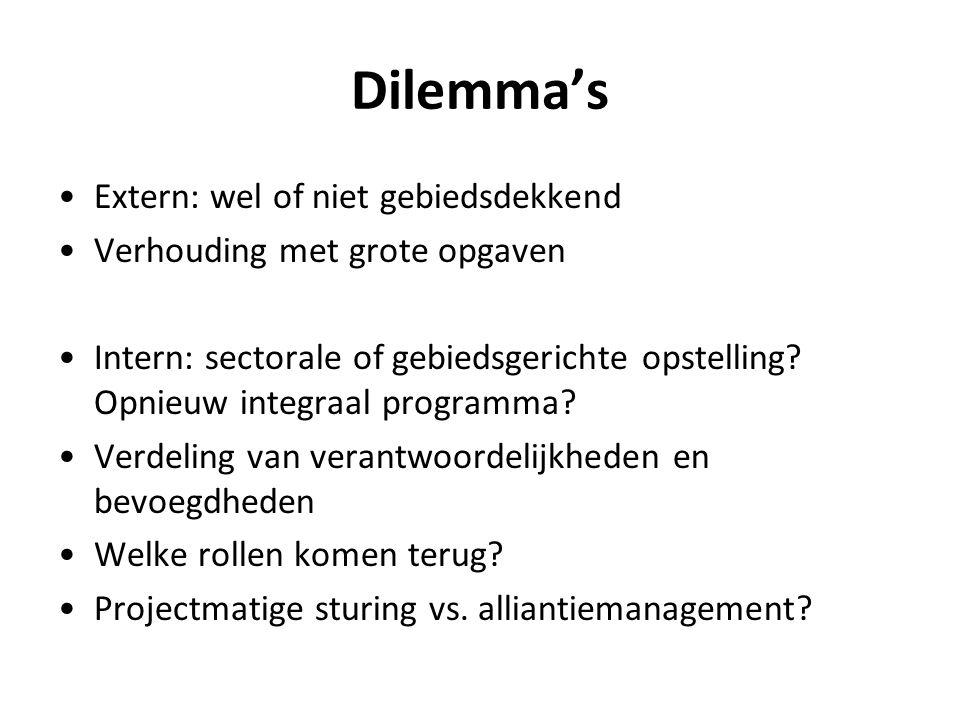 Dilemma's Extern: wel of niet gebiedsdekkend