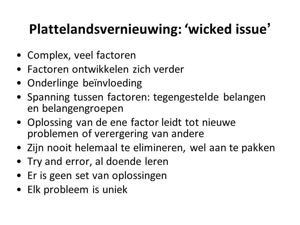 Plattelandsvernieuwing: 'wicked issue'