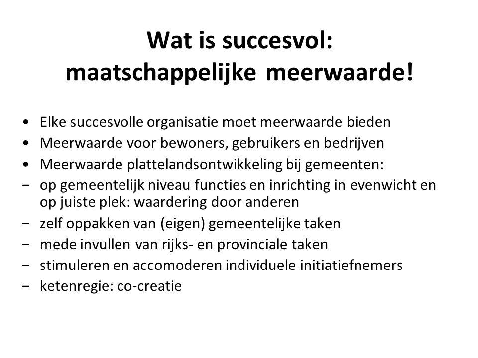 Wat is succesvol: maatschappelijke meerwaarde!