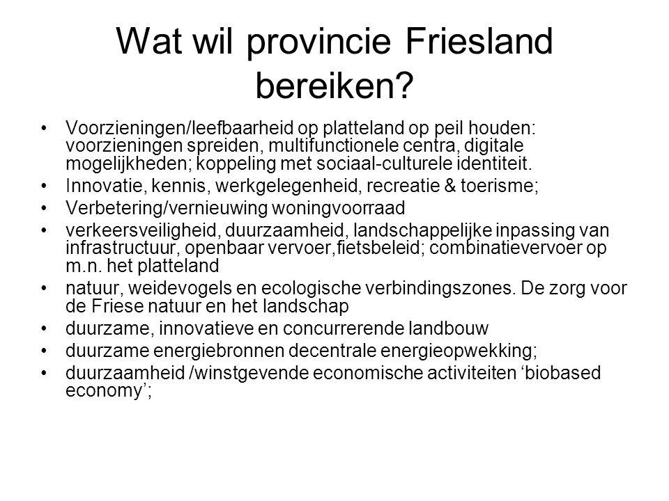 Wat wil provincie Friesland bereiken