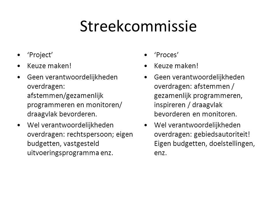 Streekcommissie 'Project' Keuze maken!