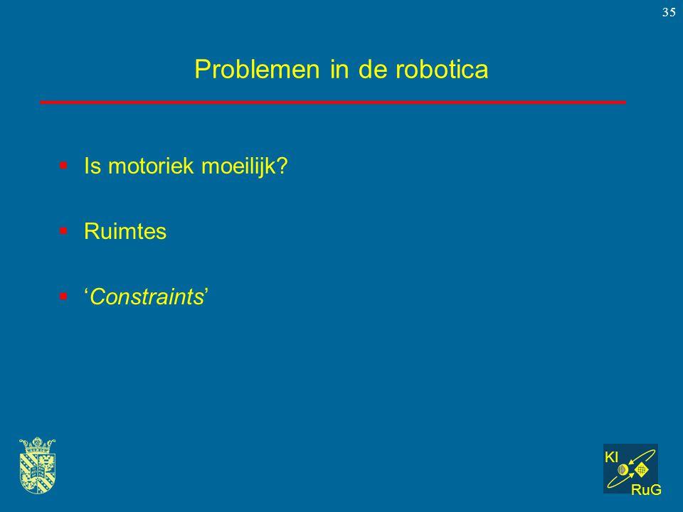 Problemen in de robotica