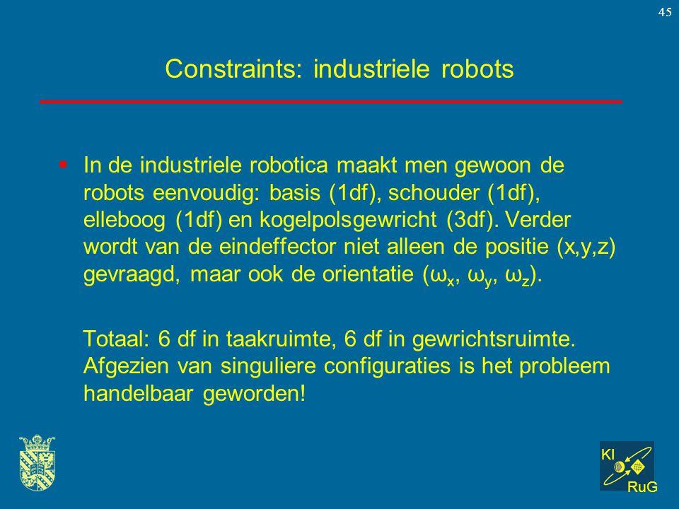 Constraints: industriele robots