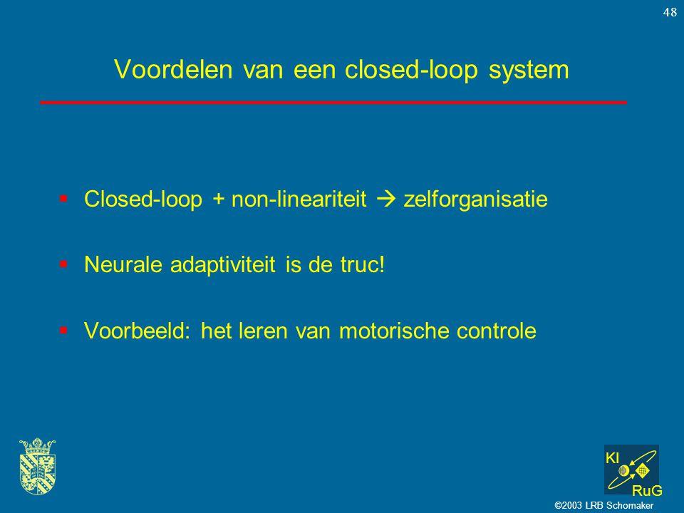 Voordelen van een closed-loop system